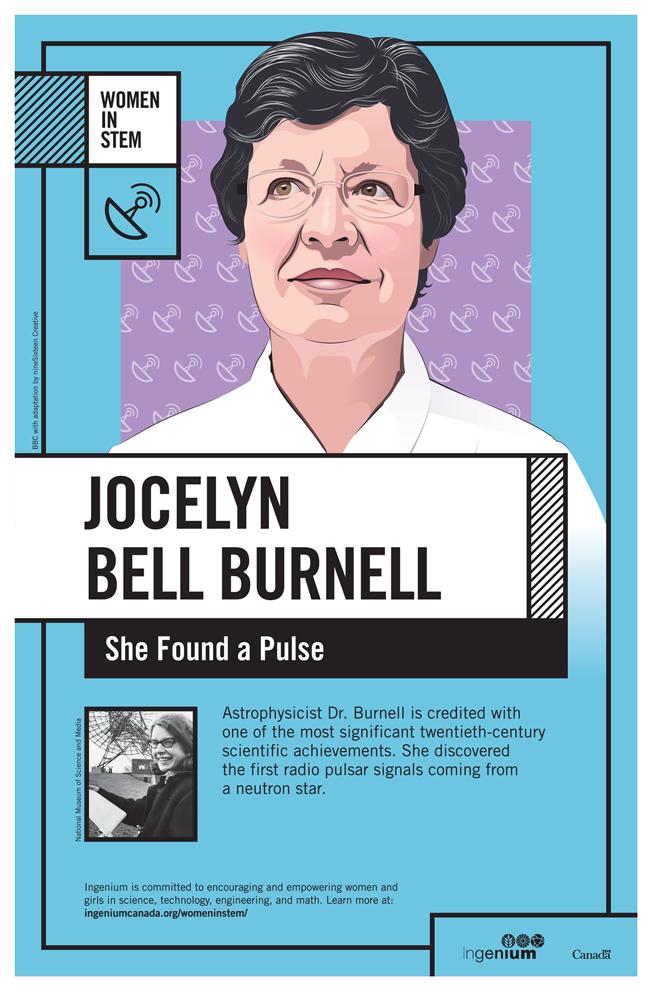 Image Poster English Jocelyn Bell Burnell